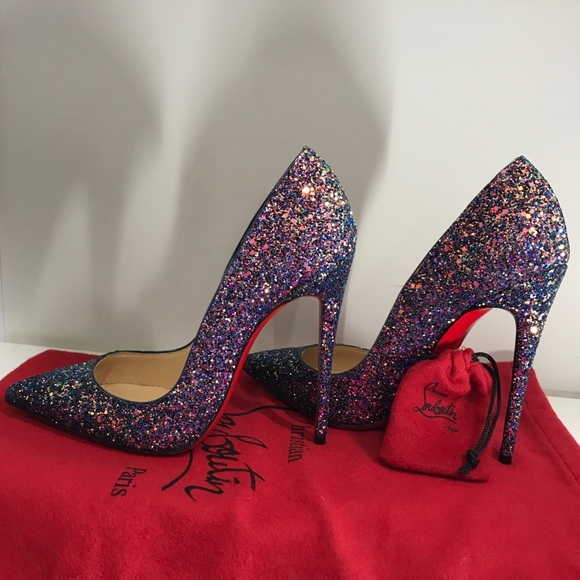 the latest f197a 44dd4 Christian Louboutin So Kate 120 Glitter Dragonfly NWT